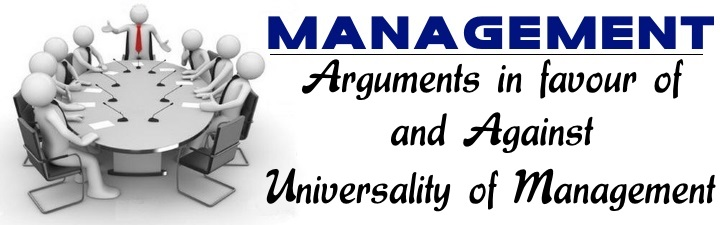 Universality of Management