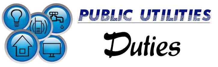 Public Utilities - Duties
